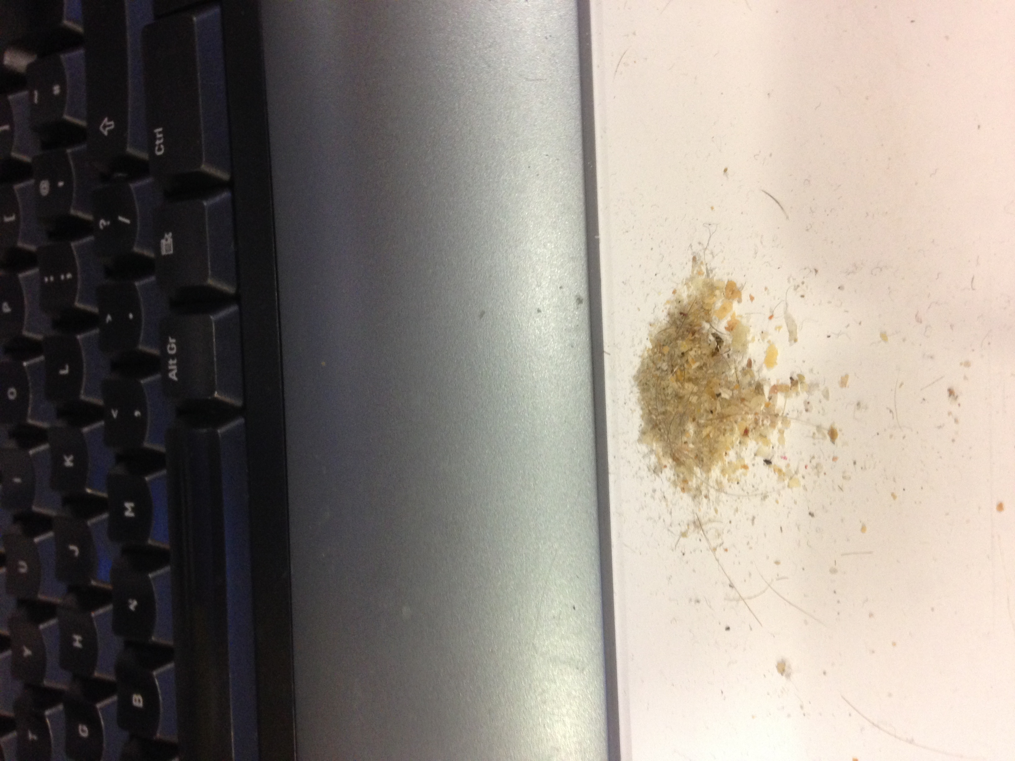 Dirt from after cleaning a dirty keyboard