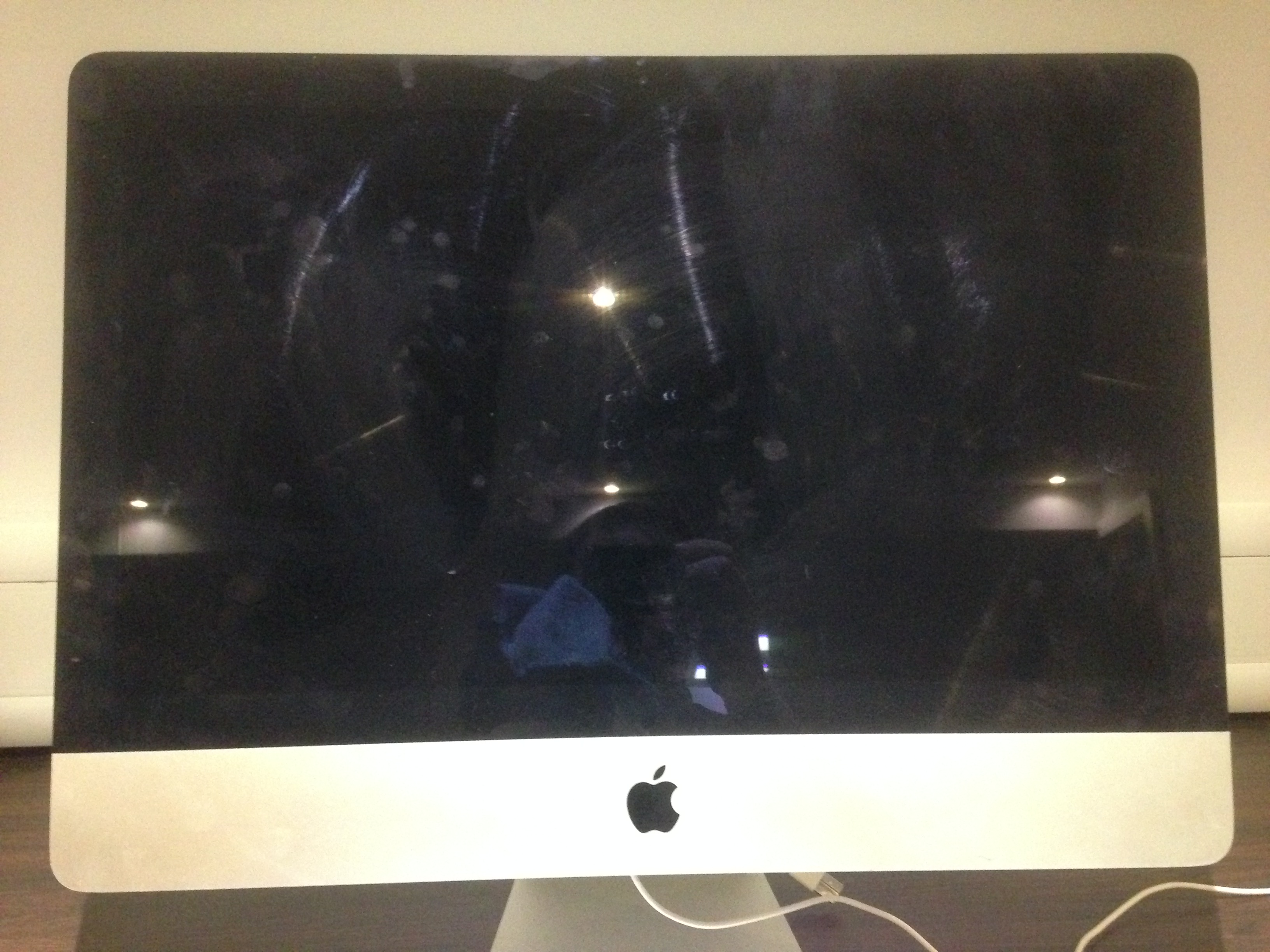 Dirty iMac Before Computer Cleaning Service
