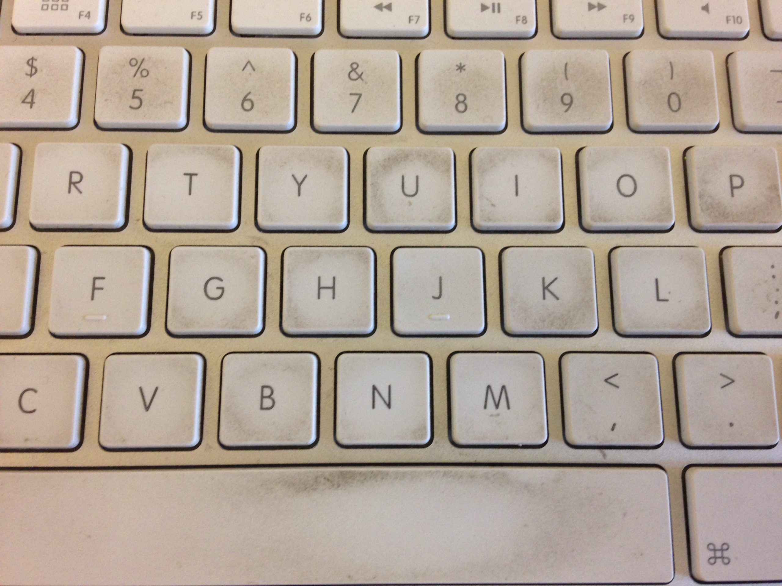 Dirty Apple Keyboard Before Computer Cleaning Service