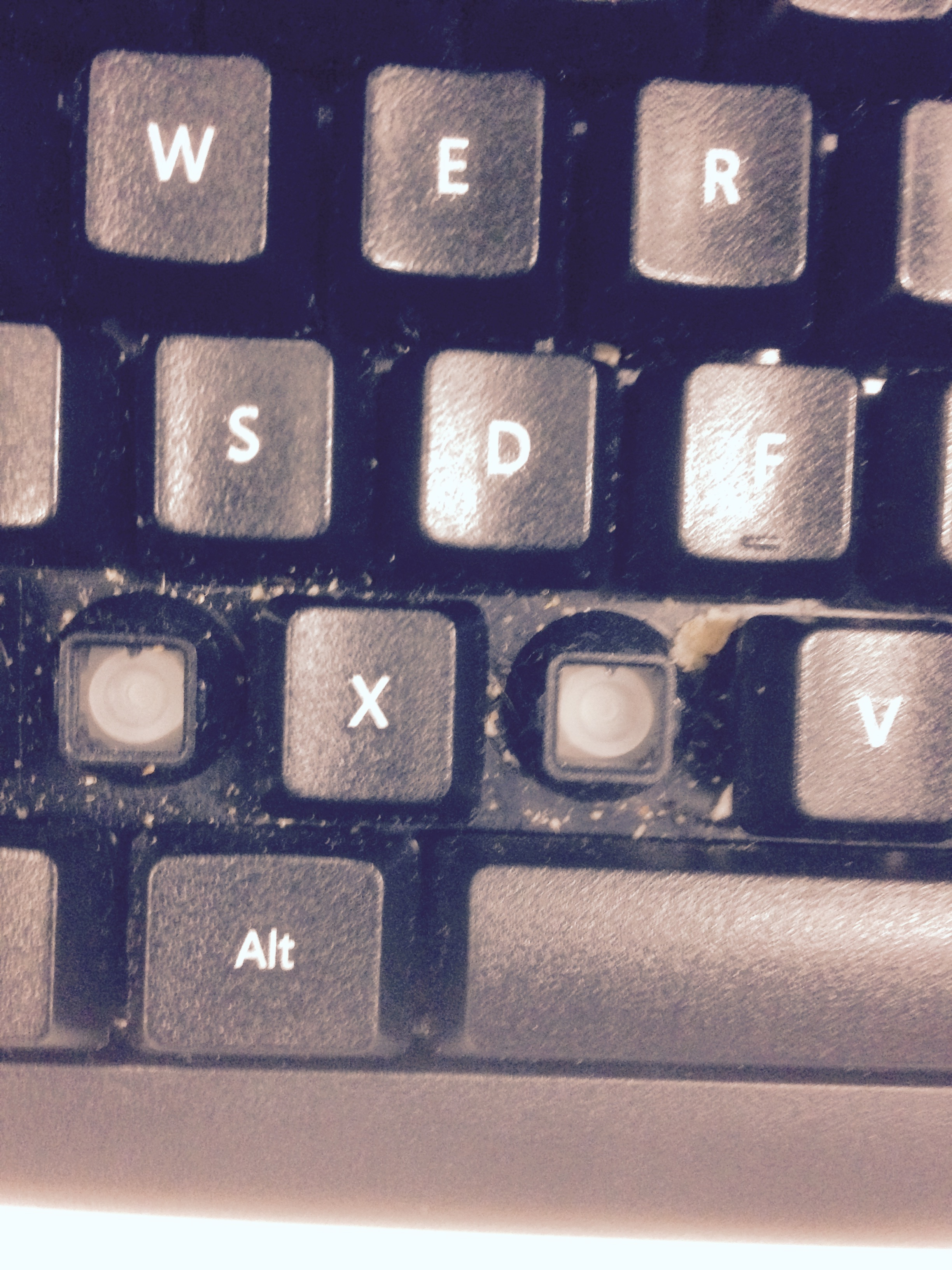Dirty Keyboard Before Computer Cleaning Service