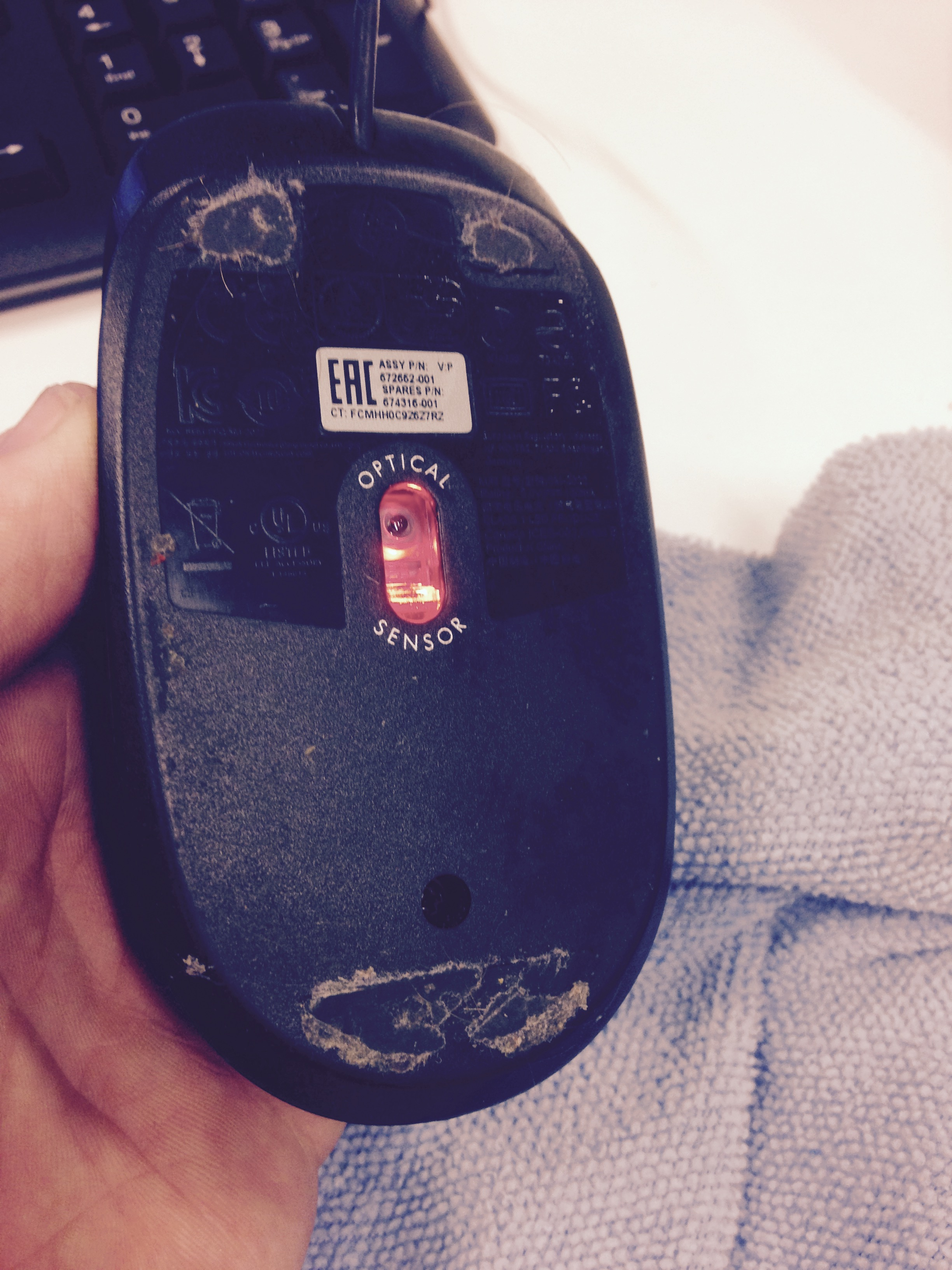 Dirty Computer Mouse Before Computer Cleaning Service