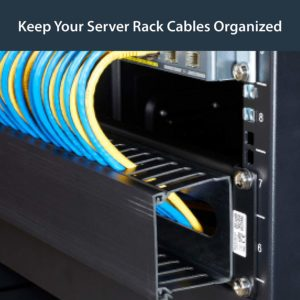 2U Server Rack Cable Management with Cover, Finger Duct Rack Management Panel, Wire Duct Raceway