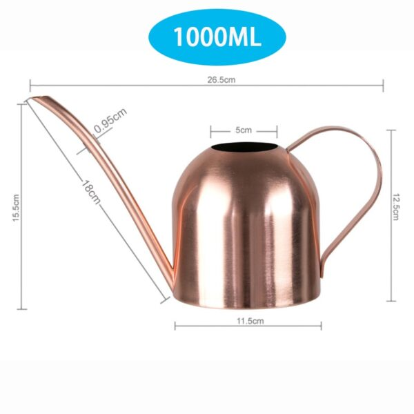 Long Mouth Water Can Stainless Steel Watering Pot Garden Flower Plants Watering Cans 500ML /1000ML Kettle Gardening Tool 8