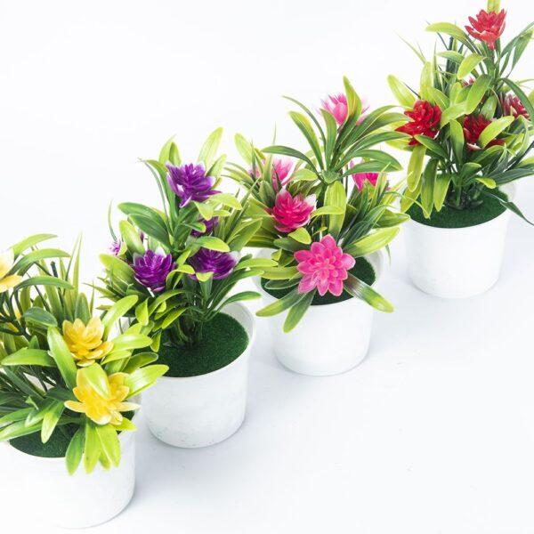 Artificial Plants Bonsai Small Tree Pot Plants Bonsai Lotus Flowers Fake Flowers Potted Ornaments Home Decoration Garden Decor 3