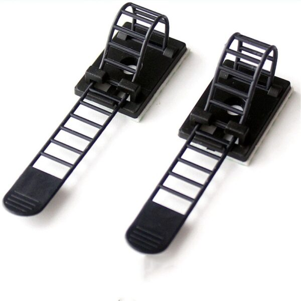 10pcs Self Adhesive Cable Clips 18*25mm Desk Table Cable Clamp Adjustable Earphone Wire Tie Line Fixer Cable Holder Wrap Cord 4