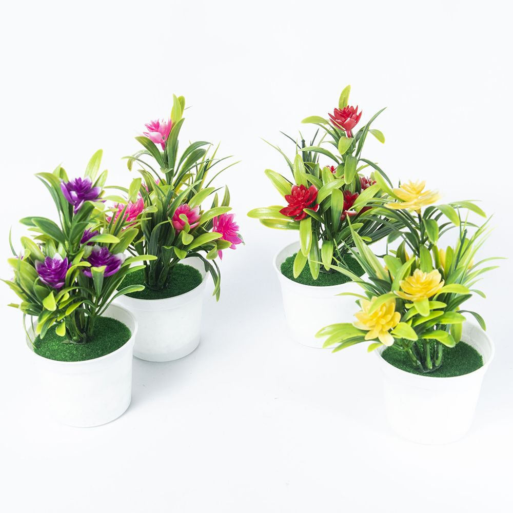 Artificial Plants Bonsai Small Tree Pot Plants Bonsai Lotus Flowers Fake Flowers Potted Ornaments Home Decoration Garden Decor 4