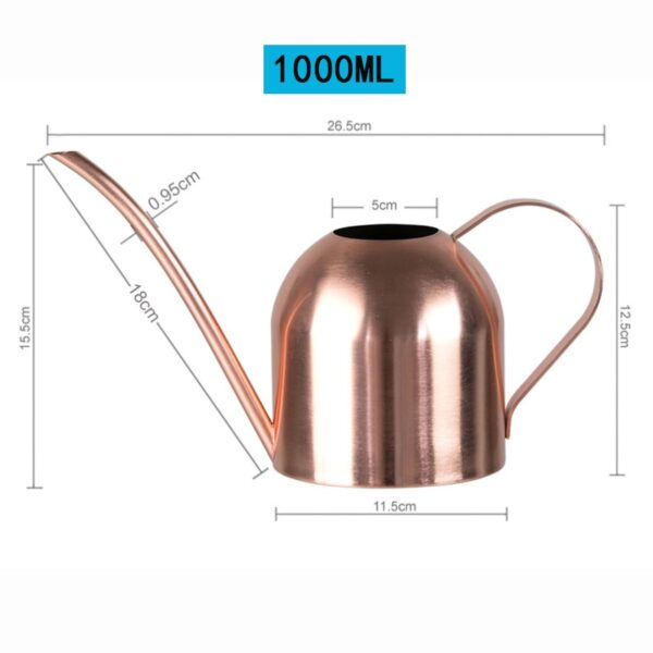 Long Mouth Water Can Stainless Steel Watering Pot Garden Flower Plants Watering Cans 500ML /1000ML Kettle Gardening Tool 16