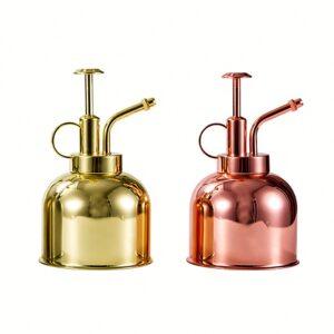 300ml Watering Can Nordic Style Pressing Nozzle  Garden Sprayer Pot Succulent Plants Flower Brass Watering Pot