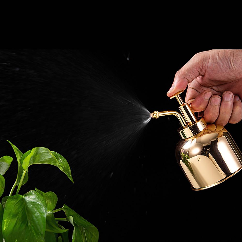 300ml Watering Can Nordic Style Pressing Nozzle  Garden Sprayer Pot Succulent Plants Flower Brass Watering Pot 6