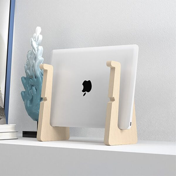 Wood Laptop Stand Holder Increased Height Storage stand for Macbook 13 15 Inch Notebook Vertical Base Cooling Stand Mount 2