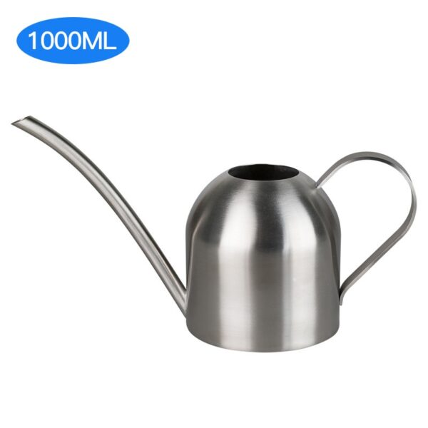 Long Mouth Water Can Stainless Steel Watering Pot Garden Flower Plants Watering Cans 500ML /1000ML Kettle Gardening Tool 26