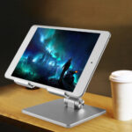 Tablet Stand Aluminum Desktop Adjustable Stand Foldable Phone Holder For iPad Pro 12.9 11 Air Mini 2020 iPhone Samsung Xiaomi