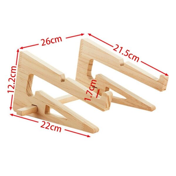 Wood Laptop Stand Holder Increased Height Storage stand for Macbook 13 15 Inch Notebook Vertical Base Cooling Stand Mount 6