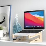 Wood Laptop Stand Holder Increased Height Storage stand for Macbook 13 15 Inch Notebook Vertical Base Cooling Stand Mount