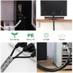 Line Organizer Pipe Protection Spiral Wrap Winding Cable Wire Protector Cable Sleeve Cover Tube Flexible Management