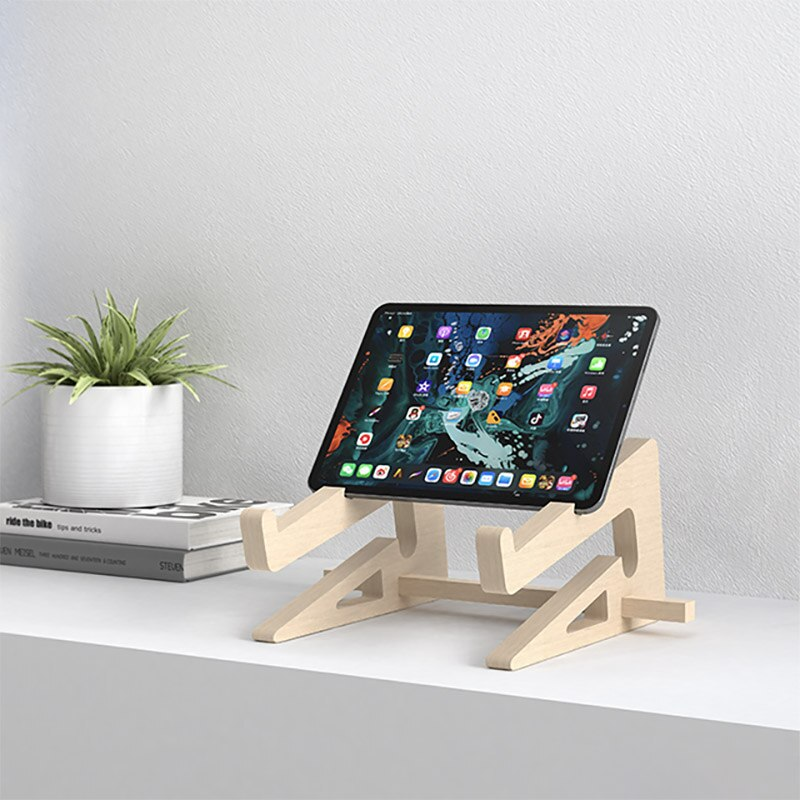 Wood Laptop Stand Holder Increased Height Storage stand for Macbook 13 15 Inch Notebook Vertical Base Cooling Stand Mount 4