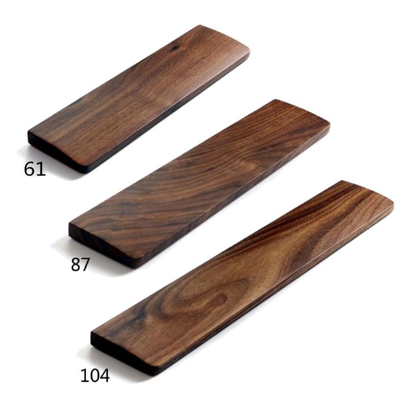 Walnut Wooden Mechanical Keyboard Wrist Rest with Anti-Slip Mat Ergonomic Gaming Desk Wrist Pad Support 61 87 104 Keys 1