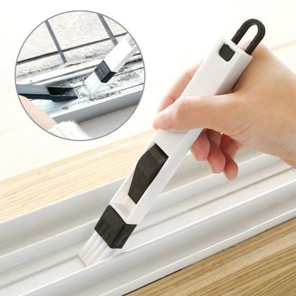 Door Window Slot Groove Cleaning Small Brush With Dustpan Dead Corner Keyboard Nook Brush Window Cranny Dust Shovel Clean Tools 6