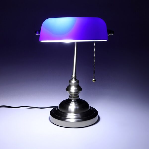 Retro industrial Classical E27 banker table lamp  Green glass lampshade cover with switch desk lights for bedroom study reading 4
