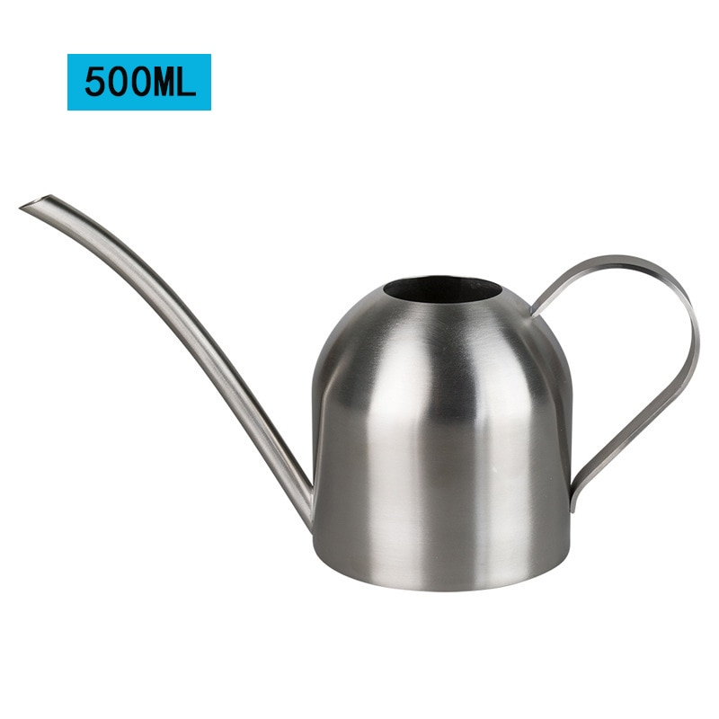 Long Mouth Water Can Stainless Steel Watering Pot Garden Flower Plants Watering Cans 500ML /1000ML Kettle Gardening Tool 23