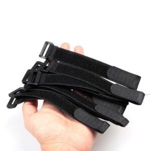 10/20pcs Reusable Fishing Rod Tie Holder Strap Suspenders Fastener Loop Belts Hook Loop Cable Cord Ties Belt Fishing Accessories