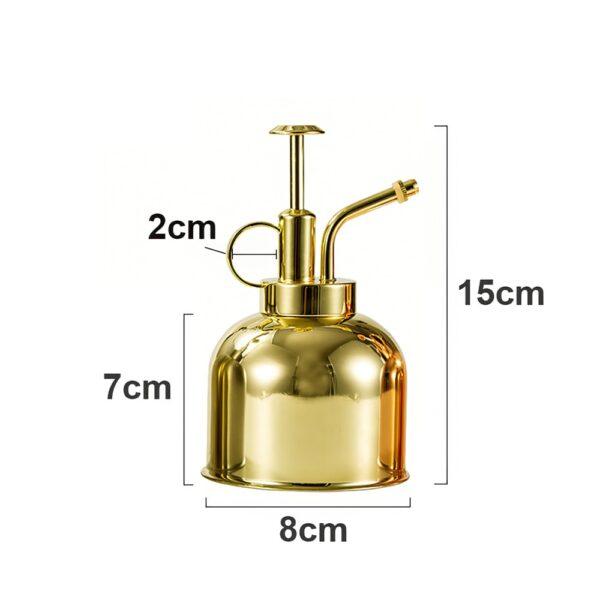 300ml Watering Can Nordic Style Pressing Nozzle  Garden Sprayer Pot Succulent Plants Flower Brass Watering Pot 5