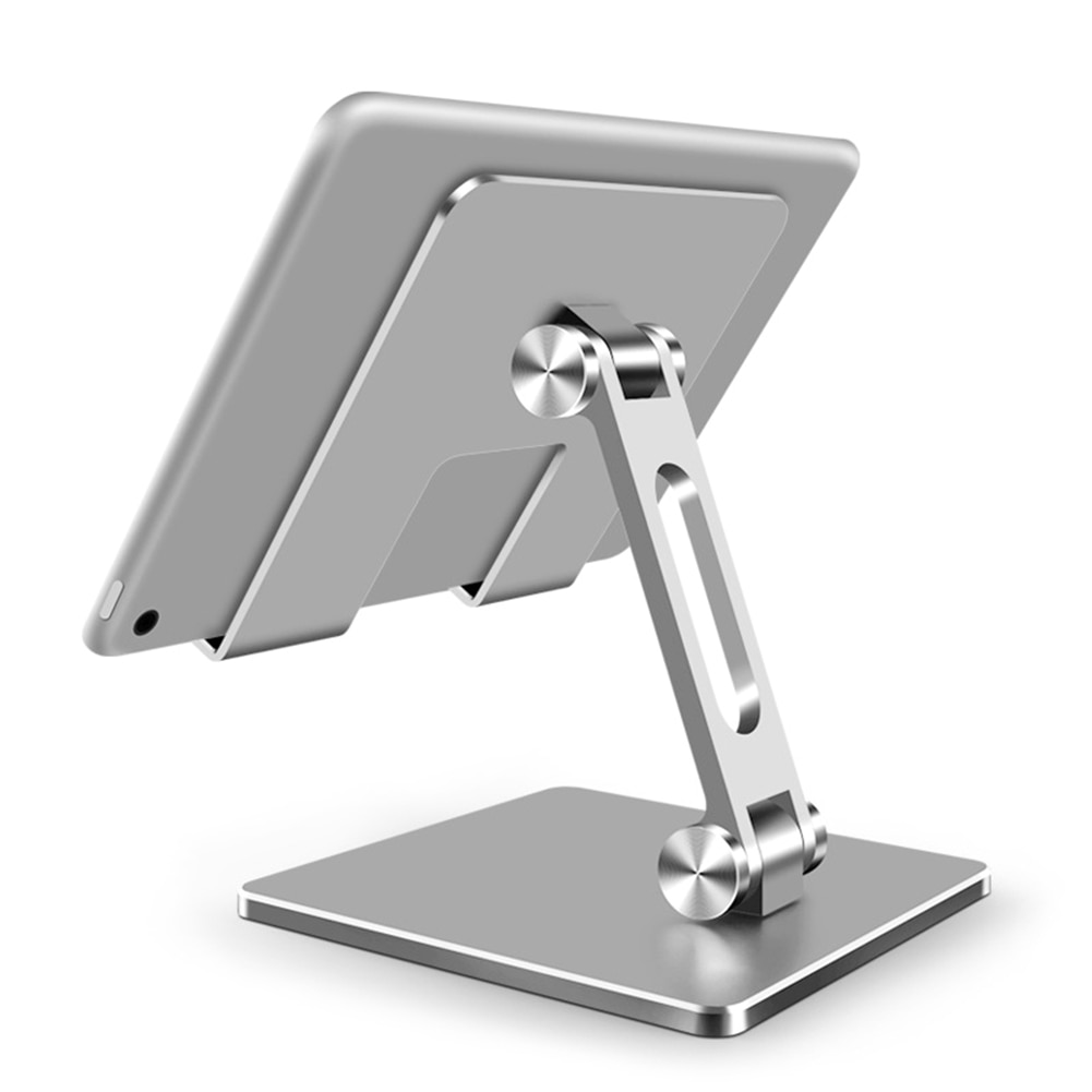 Tablet Stand Aluminum Desktop Adjustable Stand Foldable Phone Holder For iPad Pro 12.9 11 Air Mini 2020 iPhone Samsung Xiaomi 1